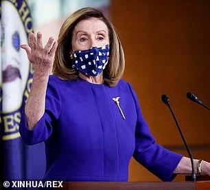 Pictured; House Speaker Nancy Pelosi