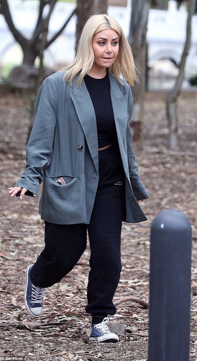 Feeling the pressure? MAFS' Martha Kalifatidis appeared tense as she filmed scenes for Celebrity Apprentice Australia