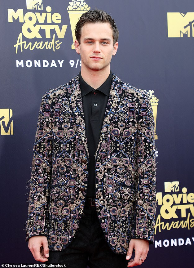 Former flame: The singer's last serious relationship was with Brandon Flynn in 2018, they split in 2019 (Brandon pictured in2018)