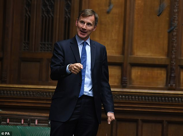 Former Health Secretary Jeremy Hunt (pictured) faced fury yesterday after backing calls to plunge Britain once again into lockdown