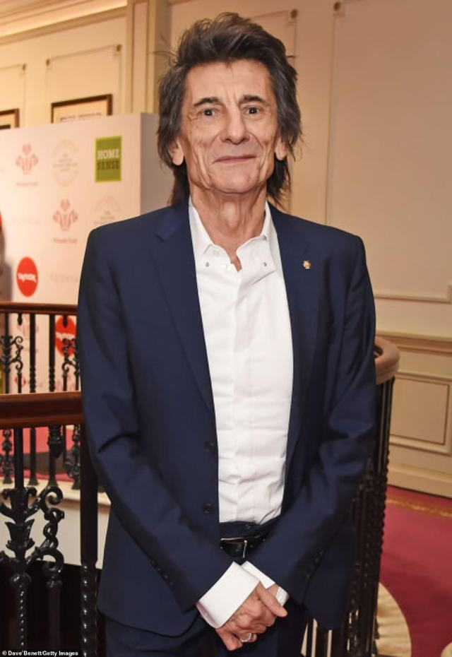 Wood, pictured at The London Palladium in March 2020, moved into the large family home 2011 when he was trying to get clean