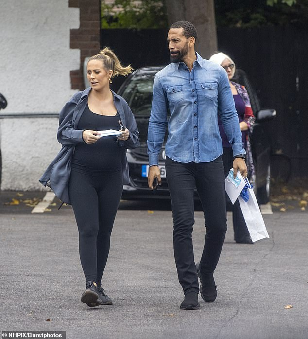 Outing: Rio also opted for a laid back look, wearing a denim shirt along with a pair of slim-fitting black trousers
