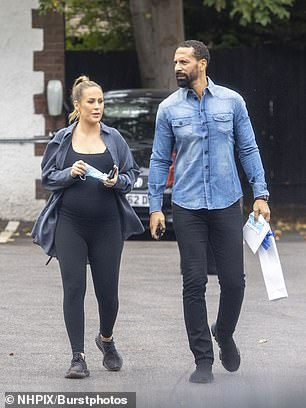Casual: The former TOWIE star cut a casual figure for the day which appeared to be a celebratory outing as Rio was seen carrying a card and a beverage as they left