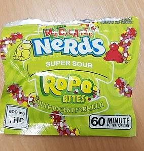 Nerds Rope mord, les comestibles `` super puissants '' qui contiennent supposément 600 mg de THC, l'ingrédient actif du cannabis
