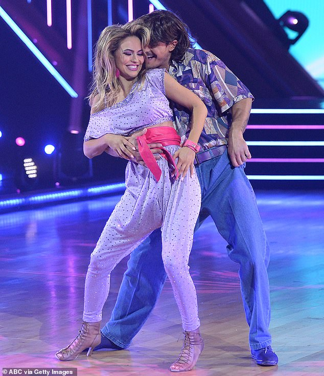Interested fans: Earlier this month, Chrishell's dance partner Gleb Savchenko let slip in a joint interview with Us Weekly that professional hockey players have been slipping into her DMs; shown October 12