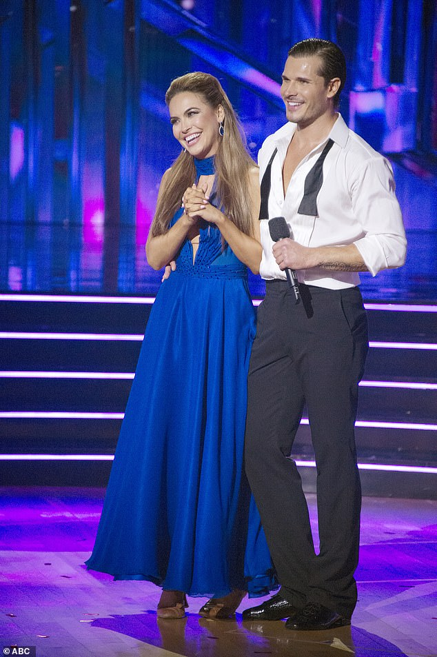 Close call: Chrishell will have to improve her performance to stay on DWTS, as she tied for last place in week five, though Jesse Metcalfe was the one to go home; shown on October 5
