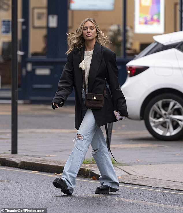 Looking good:Delilah Belle Hamlin appeared to be in good spirits as she enjoyed a relaxing pamper session in Fulham, London, on Sunday
