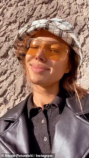 Smiles: Nicole put on a glowing display in the sunshine