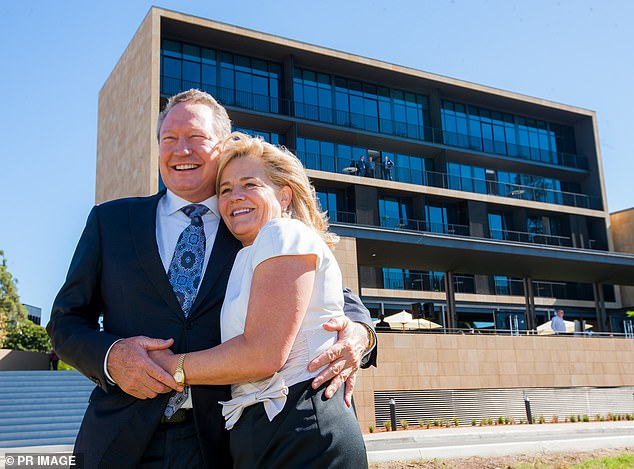 Mining magnate Andrew Forrest and his wife Nicola (pictured together) say they're proud and humbled iconic boot brand RM Williams is back under Australian ownership