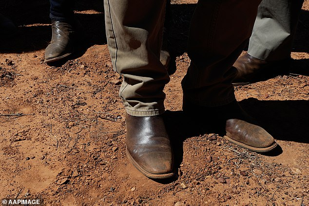 RM Williams boots are Australian footwear. Pictured are Scott Morrison's pair while touring regional Queensland shortly after he became Prime Minister in 2018