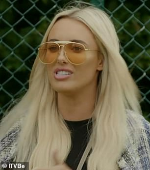 'Vile': Nicole Bass has branded Amber Turner, pictured, 'vile, rude and b****y' following their explosive street row over Yazmin Oukhellou on Wednesday's episode of TOWIE