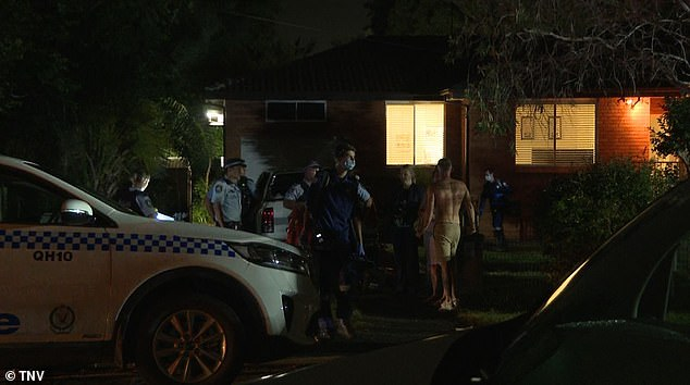 Three men have been hospitalised after a wild brawl broke out at a Hunter St home (pictured) in Riverstone