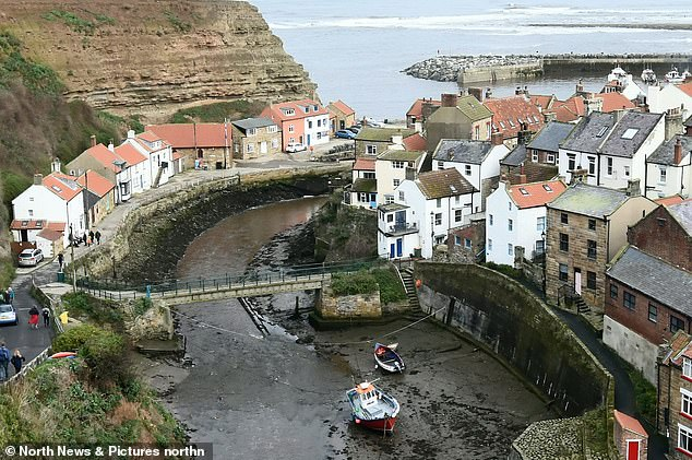 All at sea: Residents in Staithes have been left confused