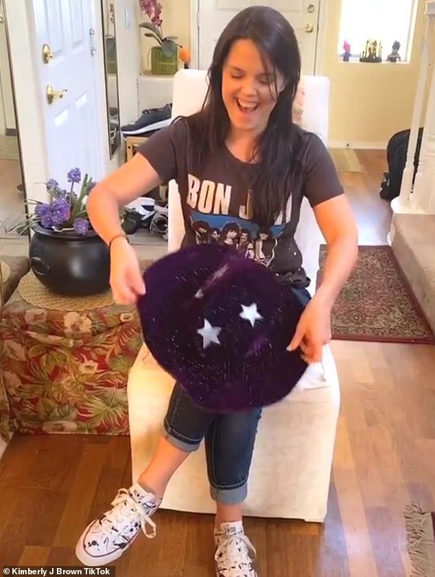 Social media:Kimberly J. Brown transformed into her witch outfit from Halloweentown 2 in a TikTok video for fans of the Disney Channel franchise