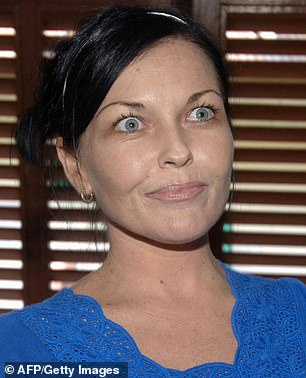 Primped: Looking every inch the budding reality TV glamazon, Schapelle sported a full face of makeup including dewy pink blush, rose-coloured lipstick and false lashes. Pictured in 2008