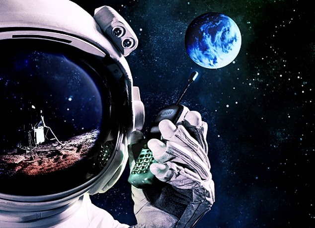 Bars in the stars: Finnish telecoms giant Nokia has been chosen to build the Moon's first cellular network, as Nasa prepares for a future where humans return - and this time stay put