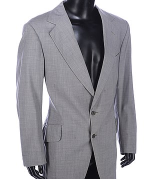 For the classy:Sean Connery's grey flannel suit jacket from Diamonds are Forever (1971) is available