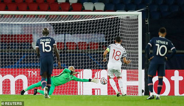 The Portuguese midfielder saw a second straight penalty saved by PSG keeper Keylor Navas