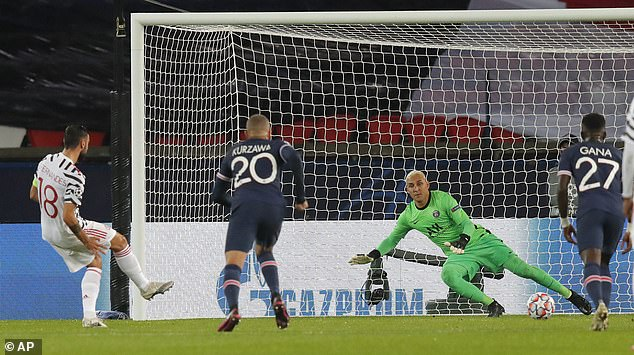 But it had to be re-taken and he made no mistake that time and sent Navas the wrong way