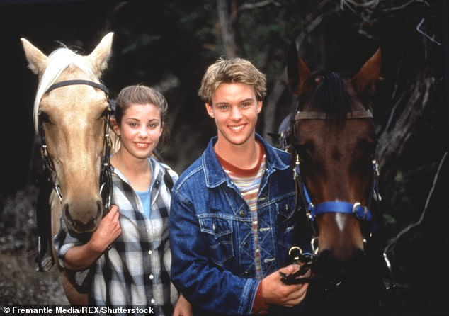 Where it began: Jesse's acting career began in the long-running soap opera Neighbors from 1994 to 2000 as Billy Kennedy, the youngest son of Dr. Karl and Susan Kennedy. Jesse is pictured with co-star Brooke Satchwell