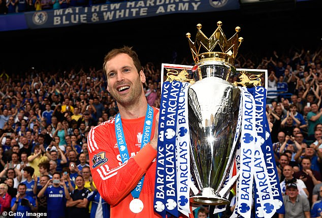 Cech initially left Chelsea as a goalkeeper at the end of the 2014-15 season, winning the title.