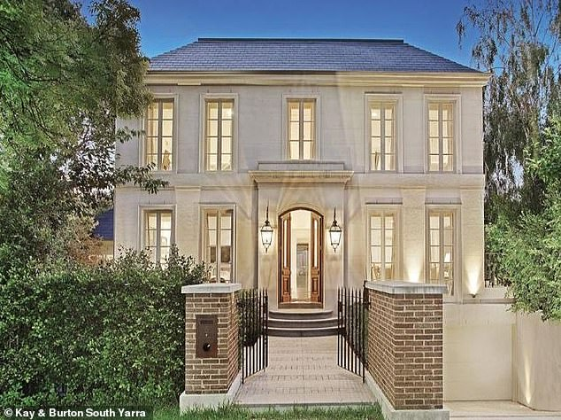 Details: George and his wifepurchased the five-bedroom Toorak property for $4.75million, and listed it for sale in February 2020 as George's hospitality empire teetered on the brink of collapse
