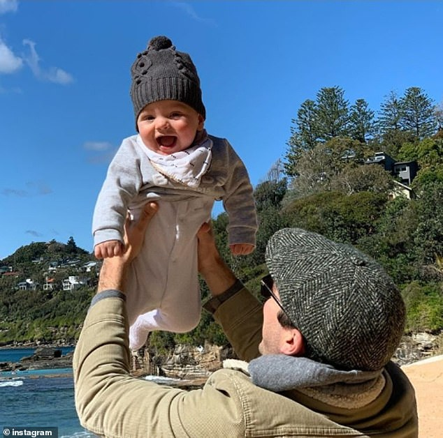 Big news:Before travelling to America, Peter and Sylvia had announced they were expecting their second child together.'Oscar's little brother due in April next year. We are so lucky,' Sylvia wrote on Instagram, tagging her husband