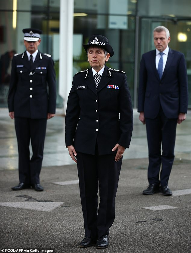 The complaint adds that Scotland Yard's investigation of Dr Starkey's remarks, which were made in June, was 'primarily compelled by deference to' Black Lives Matter – an 'organisation', the letter claims, which had 'overtly engaged in criminal conduct' (pictured, Cressida Dick)