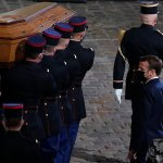 President Macron pays his respects to beheaded teacher Samuel Paty 💥👩💥