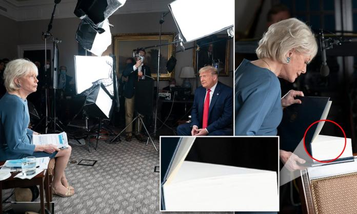 Donald Trump releases pictures from 60 Minutes interview before he walked  out of it | Daily Mail Online