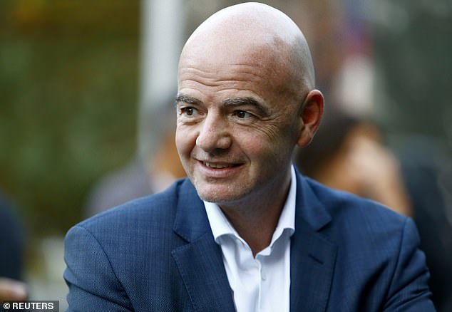 FIFA president Gianni Infantino (above) refused to back the idea of a European Super League