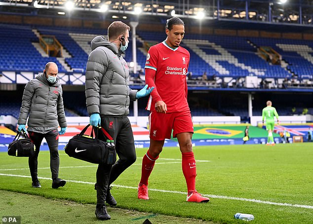 Van Dijk will now be out most of the season due to an anterior cruciate ligament injury