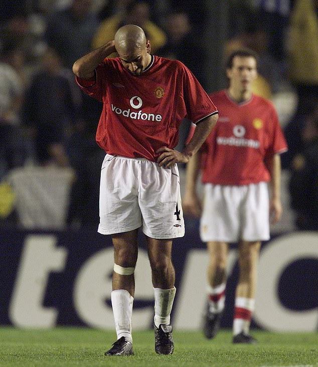 Juan Sebastian Veron made Gary Neville's all-time away XI at Manchester United