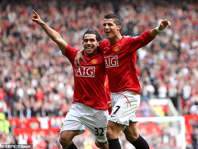 Neville's former teammates Carlos Tevez and Cristiano Ronaldo were also part of the squad