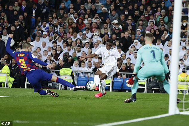 Vinicius Jr's goal in last year's Clasico went a long way to deciding the LaLiga title race
