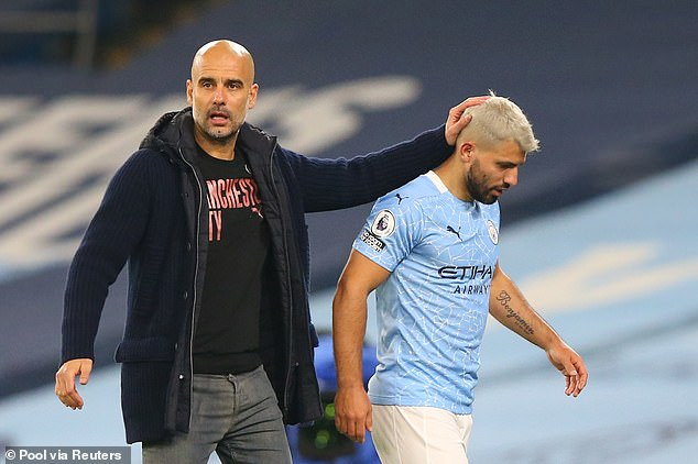 Pep Guardiola continues to defend Sergio Aguero after his controversial gesture