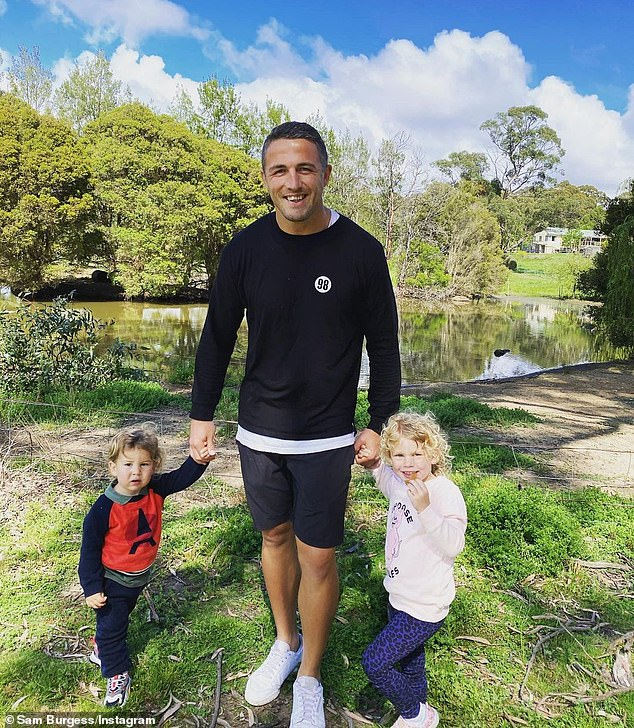 Family: Sam and Phoebe finalized their divorce in April this year. They share two children, daughter Poppy, three, and son Billy, one (both pictured)
