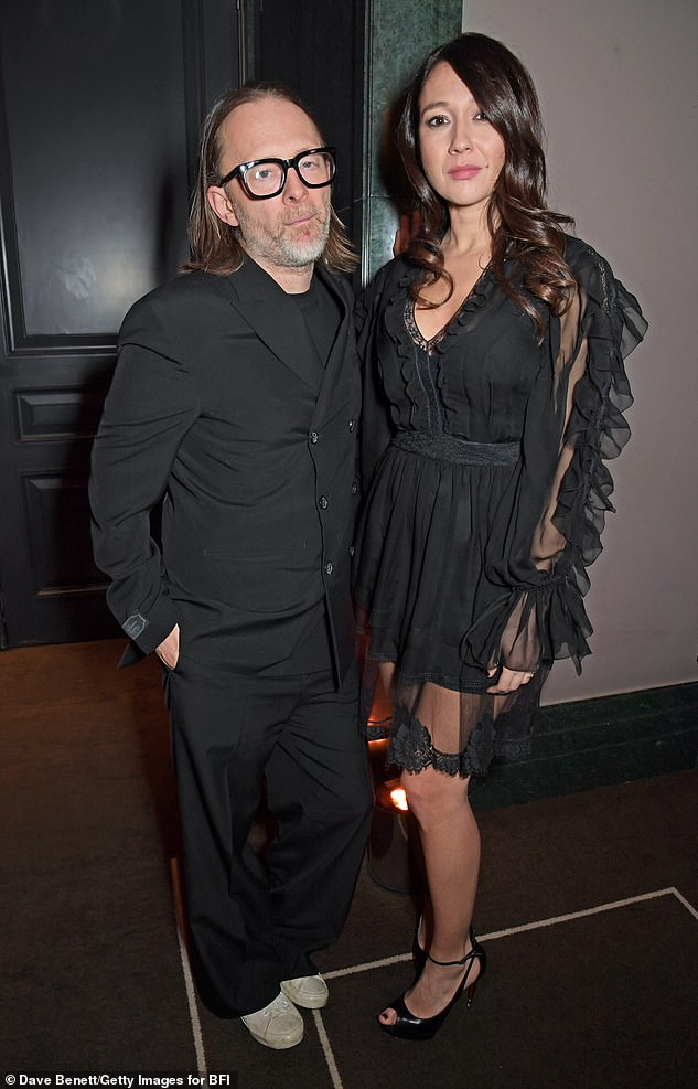 Play it safe: Thom and Dajana reportedly followed all Covid-19 regulations at their wedding, including providing face masks and the lack of a dance floor (pictured in March 2020).