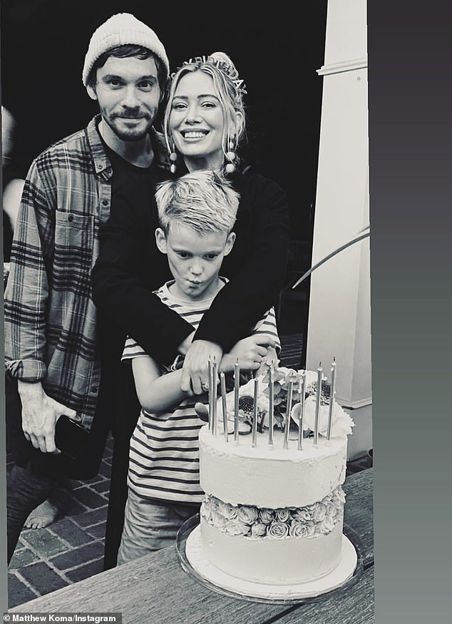 Mom: Hilary is already mom to daughter Banks, two, with Koma as well as son Luca, eight, who she shares with ex-husband Mike Comrie.
