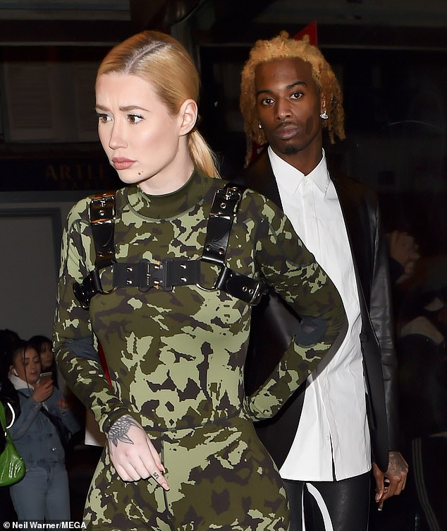 It's finish! Iggy (left) announced that she was separated from her boyfriend and the father of her child, Playboi Carti, 24 hours (right) earlier on Sunday