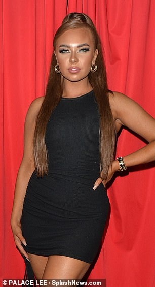 LBD: Meanwhile, Demi Jones, Love Islander, wore a tight black number