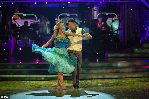 A decent start: The sports star took to stage with professional partner Luba Mushtuk for his first performance on the BBC series