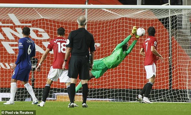 United edged Saturday's match with Chelsea, whose keeper Edouard Mendy made good saves