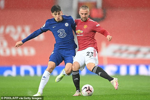 Shaw (right)'s United picked up two wins before their goalless draw with the Blues (above)