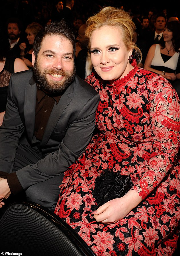 Separation ways: Adele split from Simon in April last year after seven years together, and the hitmaker reportedly filed for divorce in September 2019 (they can be seen in February 2013).