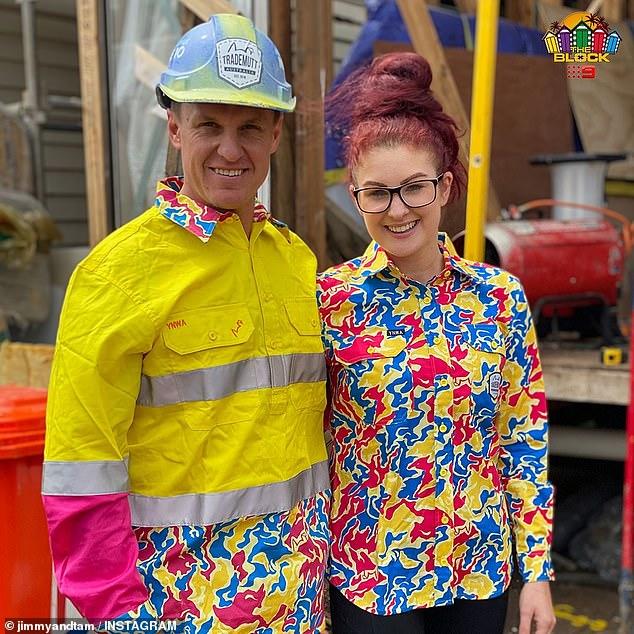 'We actually do a lot of work!' The show's down to earth couple Jimmy and Tam (pictured) said each team does just as much work as their tradesmen