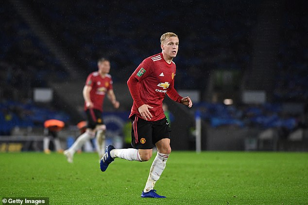 He has made just two starts for United this season, which came in Carabao Cup victories