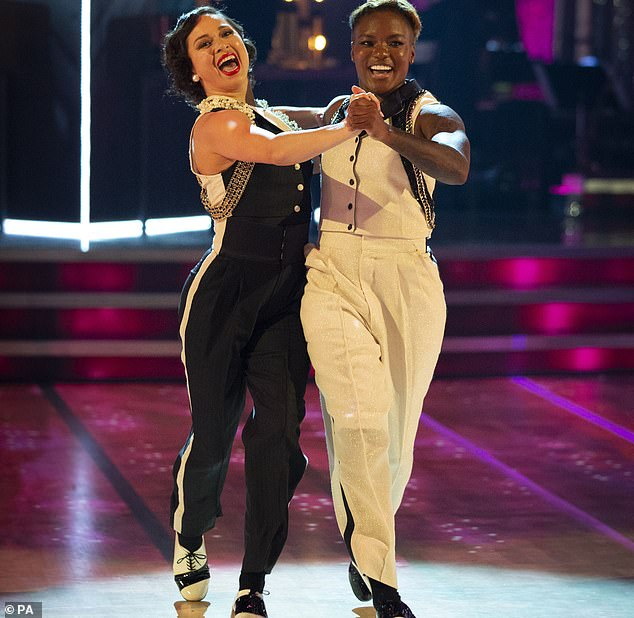 Strictly's first same-sex couple, Olympic boxer Nicola Adams and Katya Jones, received high marks from the judging panel