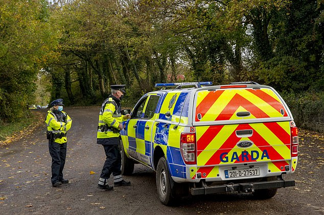 Police officers rushed to the property in north-east County Cork, Ireland, at around 6.30am on Monday
