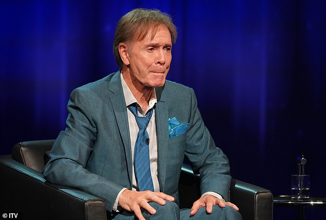 Sir Cliff Richard, 80, has shared a harrowing picture documenting his ordeal with shingles brought on by the stress of being falsely accused of historical sex crimes